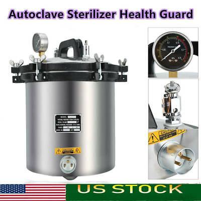 18l Steam Autoclave Sterilizer Dental Pressure Sterilization Stainless Steel Us