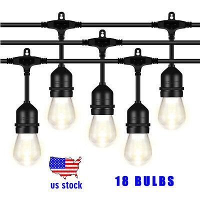 52FT LED Outdoor String Lights Vintage Edison Bulb for Garden Party Fairy - Edison Bulb String Lights