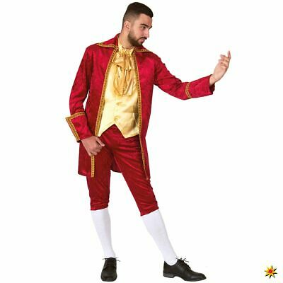 Herren Kostüm Roter Baron  Gr. M-XXL Barock Venezia Fasching Karneval Adliger