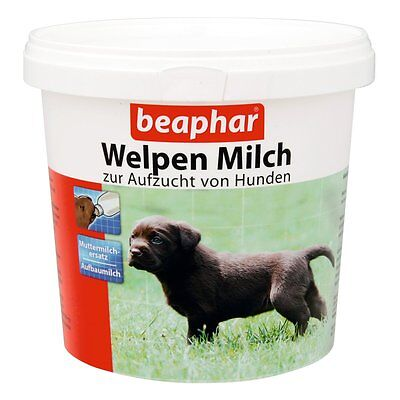 Beaphar - Welpen Milch - 500g - Welpenmilch Pulver Welpe Aufzucht Ersatzmilch