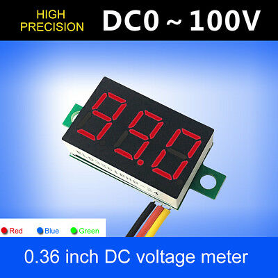 Mini Dc 100v 3 Wire Led Digital Display Panel Volt Meter Voltage Voltmeter