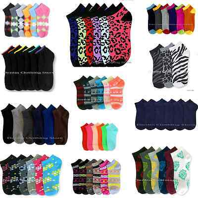 12 600  Womens Girl Spandex Ankle Low Cut Socks No Show Wholesale Lot 6 8 9 11