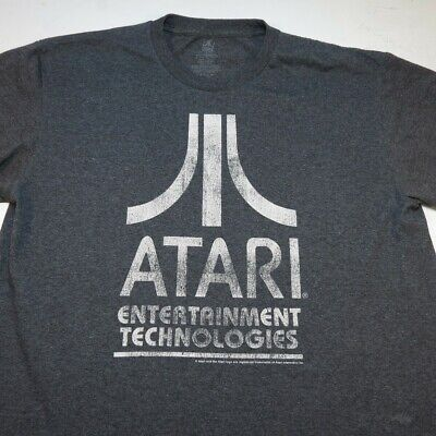 ATARI Retro Vintage Video Game System TEE T SHIRT Sz Mens L 50/50 Gray