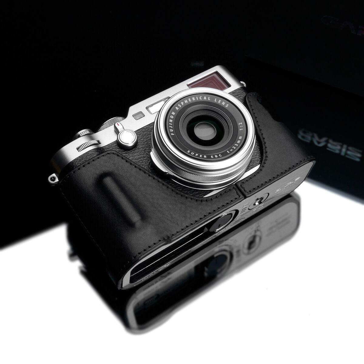GARIZ HG-X100FBK Genuine Leather Half Case for Fujifilm Fuji