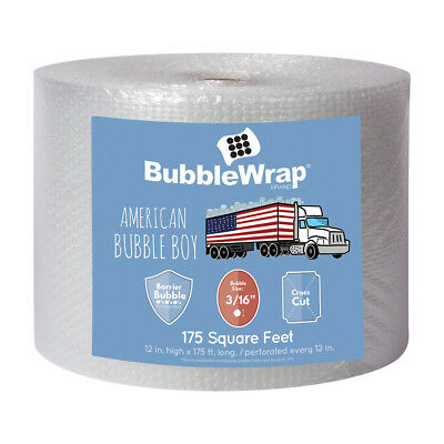 12 Wide 175 Long 316 Small Bubbles Bubble Wrap Perforated Every 12