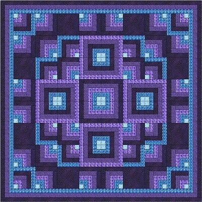 - Quilt Kit/Shimmering Lights/Pre-cut Fabrics/Blues/Purples/EXPEDITED SHIP