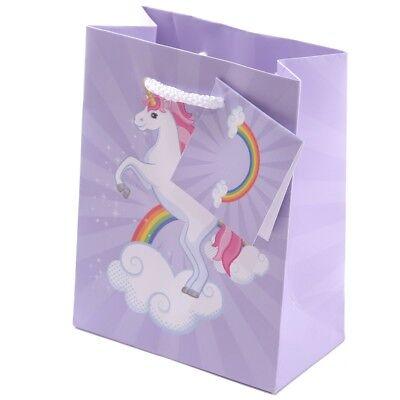 12x Einhorn Design Geschenktasche 14 x 11 x 6 cm Regenbogen unicorn rainbow ()