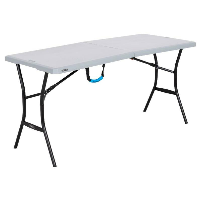 5 foot Light Commercial Folding Table Banquet Outdoor Indoor