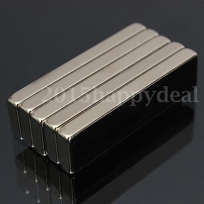 5Pcs Big Strong Block Bar Fridge Magnets 40x10x4mm Rare Earth Neodymium N52