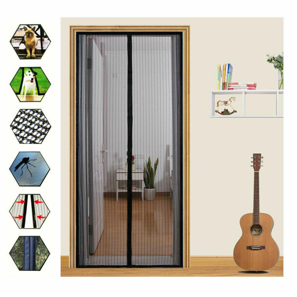 Magnetic Screen Door Net Anti Mosquito Mesh Hands-Free Bug C