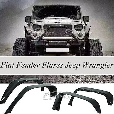 2007-2017 JEEP WRANGLER JK UNLIMITED FLAT TEXTURED STEEL OFF-ROAD FENDER FLARES