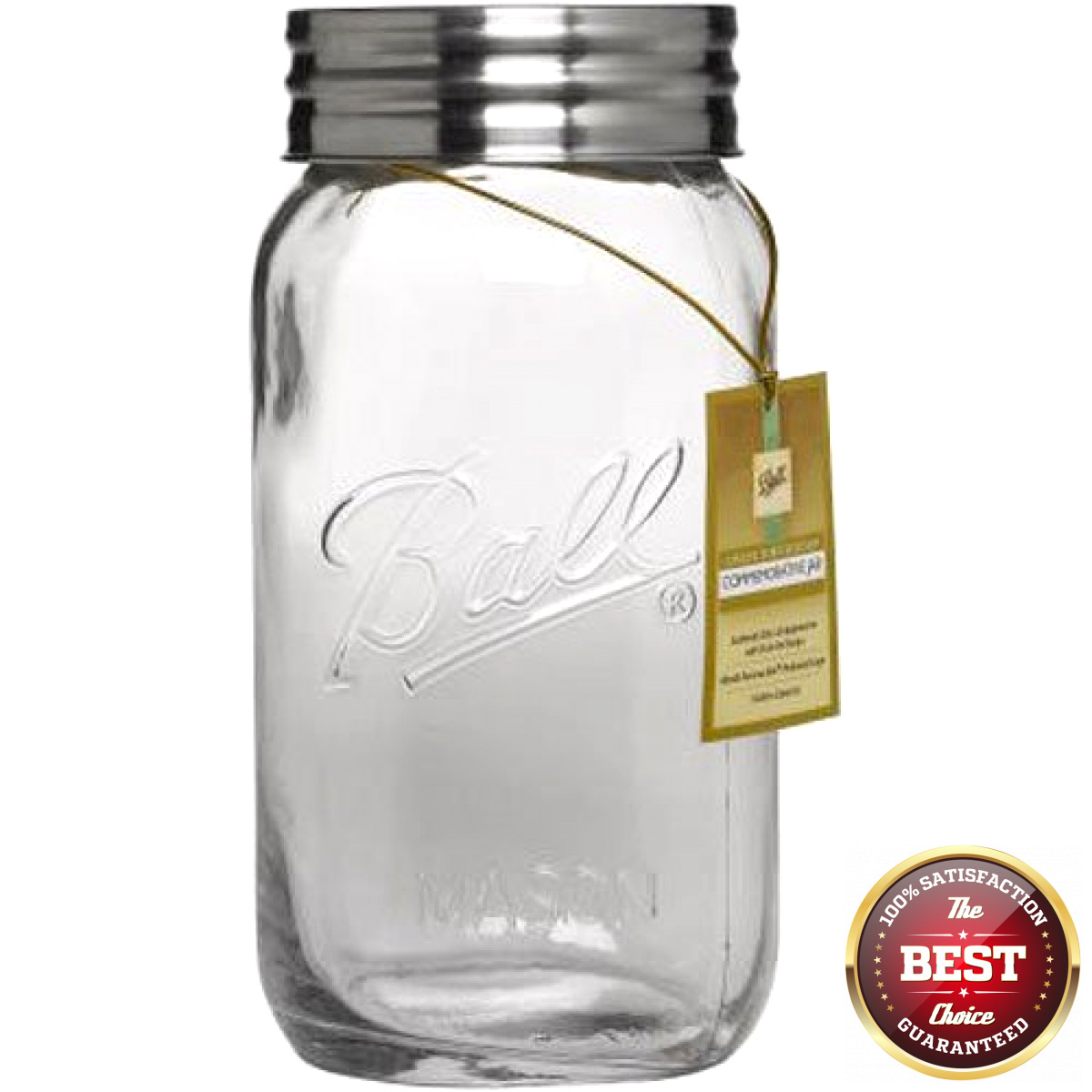1 Gallon Large Mason Jar With Lid Big Clear Glass Container