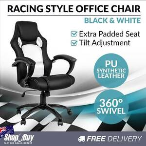 Brand New: Executive Office Computer Chair PU Leather Racing Sydney City Inner Sydney Preview