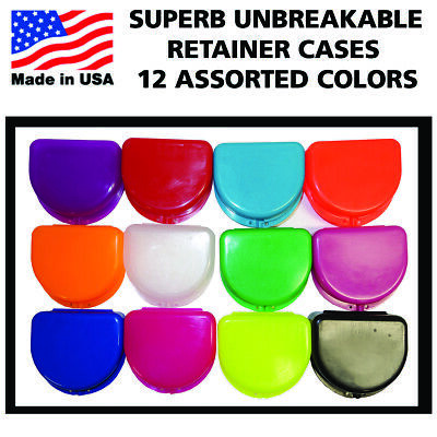 Up To 120 Dental Ortho Retainer Denture Storage Cases Mouthguard Assorted