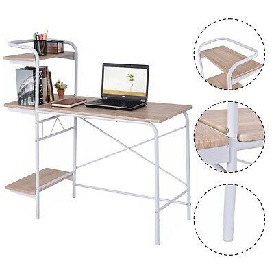 Computer Desk W/3-Tier Book Shelf Home Office Furniture Laptop Writing Desk New