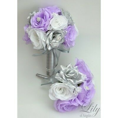 RESERVED LISTING Silk Flower Wedding Bridal Bouquet Decoration