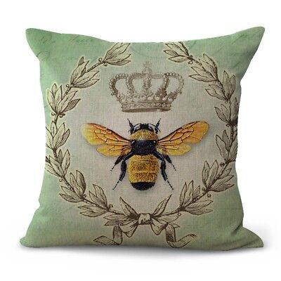 US Seller- queen bee crown wreath decorative throw pillows for sofa