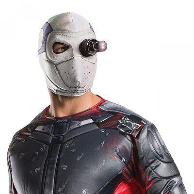 Deadshot Light Up Mask Adult Halloween Costume Fancy Dress