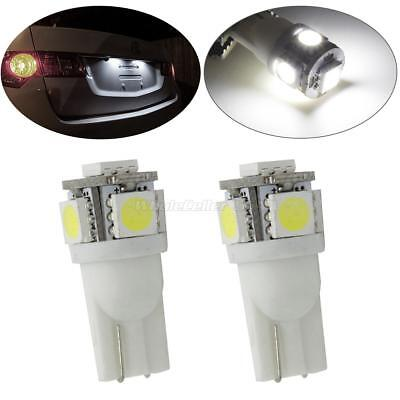 2x HID White 5 5050 SMD T10 168 194 2825 LED Bulb Lamps For License Plate Lights