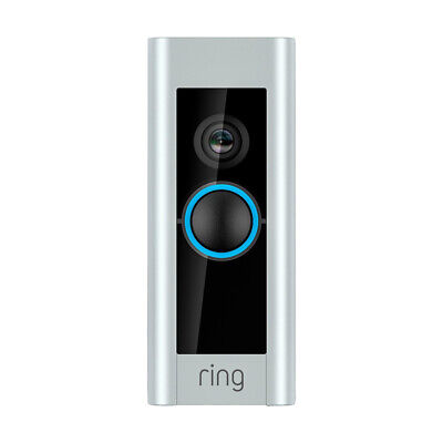 Ring Video Doorbell Pro WiFi 1080P HD Camera with Night Vision - Satin Nickel