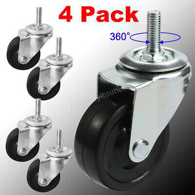 4 Pack Of 3 General Purpose Threaded Stem Caster 38 Swivel Caster Rubber