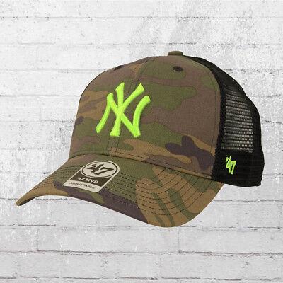 47 Brands NY Yankees Trucker Cap camouflage neon grün Kappe Mütze Haube Basecap