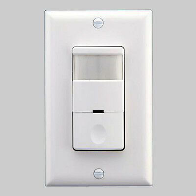 120V-277V Commercial 2-in-1 Occupancy Motion Sensor Detector Switch