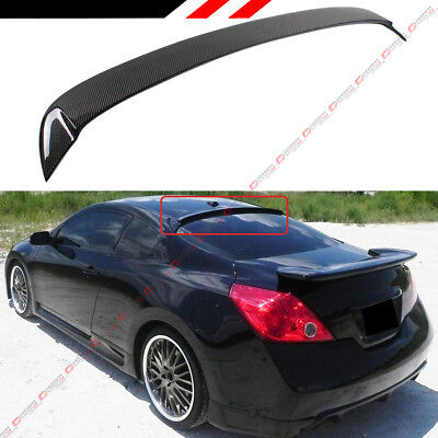 FOR 2007-13 NISSAN ALTIMA 2DR COUPE JDM CARBON FIBER REAR WINDOW SPOILER WING (Nissan Altima Coupe Rear Spoiler)