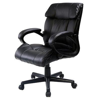PU Leather Ergonomic High Back Executive Best Desk Task Office Chair Black