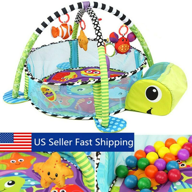 Infant Baby Activity Gym Playmat Carpet Floor Rug Mat Toddler Kid Play Toy
