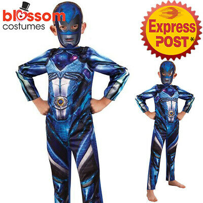 Blue Power Ranger Outfit (CK922 Blue Kids Power Rangers Costume Child Super Hero Book Week Outfit +)