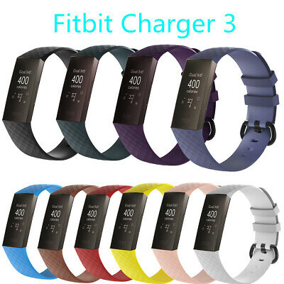 Wristbands 3 Pack Bracelet Band (10-Pack Replacement Wristband For Fitbit Charge 3/SE Band Silicone Fitness-S/L )