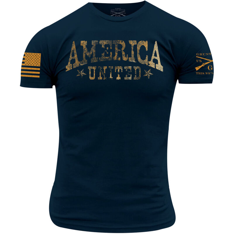 Grunt Style America United T-Shirt - Midnight Navy