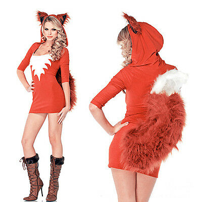 Woman Animal Fox Carnival Costume Cospaly Party Fancy Dress Bodycon Uniform - Fox Costume Woman