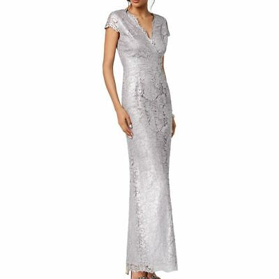 ADRIANNA PAPELL NEW Women's Metallic Lace Ball Gown Dress TEDO Metallic Lace Gown