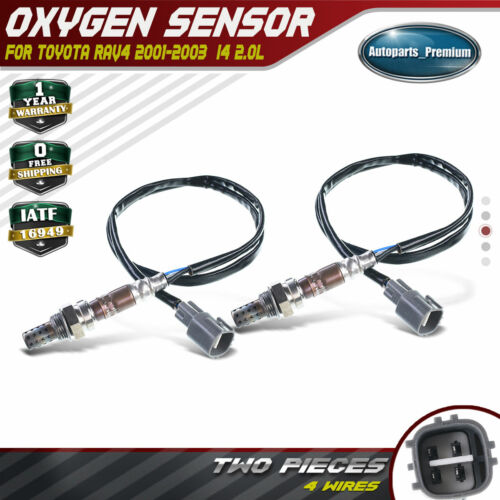 2 O2 Oxygen Sensor for Toyota RAV4 1AZFE 2001-2003 2.0L Downstream Front /& Rear
