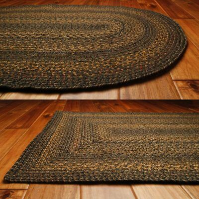 Country Jute Braided Area Throw Rugs Oval Rectangle 20x30 - 8x10 Salem ()