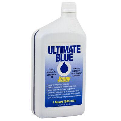 Air Compressor Oil 100 Synthetic 1 Qt Quart Jenny Ultimate Blue 105-1209