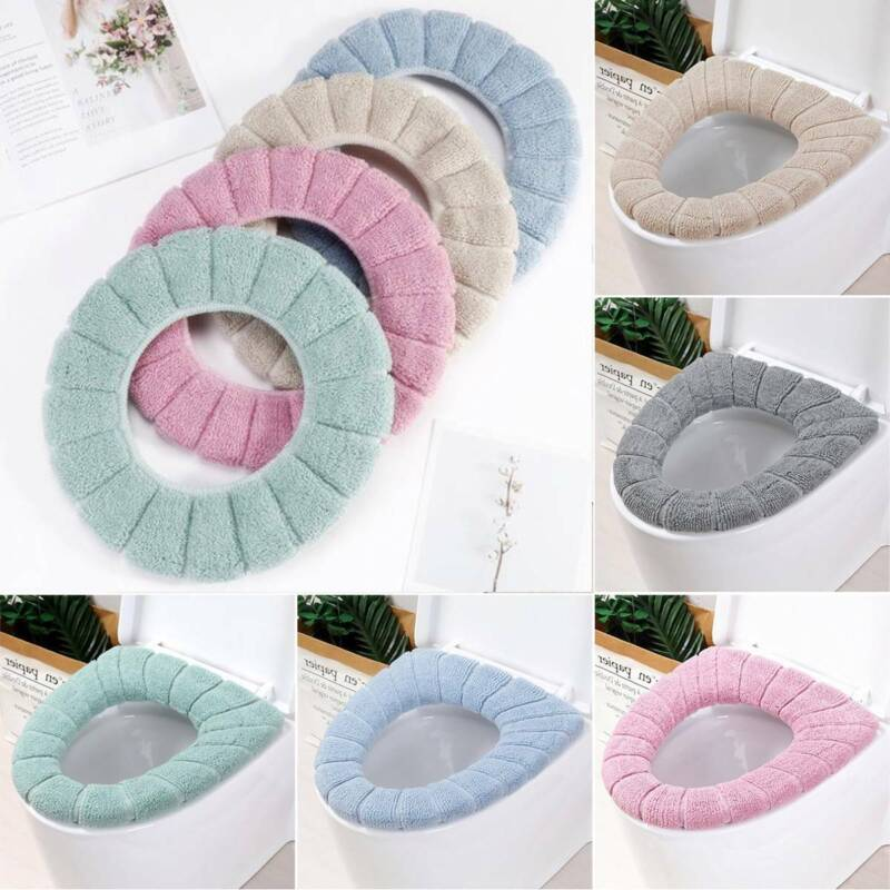 Comfortable Soft Toilet Seat Cover Pad Cushion Washable Soli