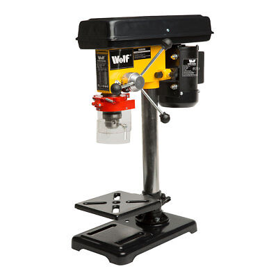 Wolf 500w 230v Pillar Drill Press Bench Top Mounted Drilling 9 Speed 16mm