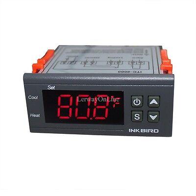 Inkbird Heat Cool Pid Temp. Controller Itc-2000 10a 220v Thermostat Sensor Probe