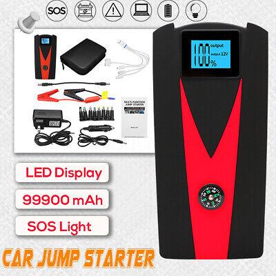 99900mAh 12V Car Jump Starter Booster 2 B Charger Battery Phone Power Bank  Phone Charger Booster