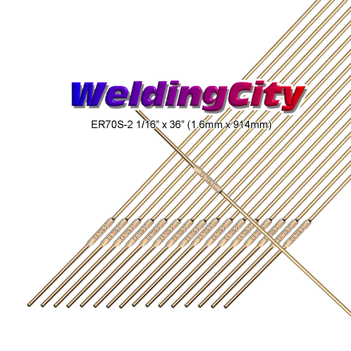 WeldingCity ER70S-2 5-Lb Mild Steel TIG Welding Filler Rod 1/16\