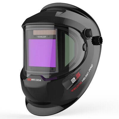 True Color View Solar Auto Darkening Welding Helmet Side View Weld Mask Hood