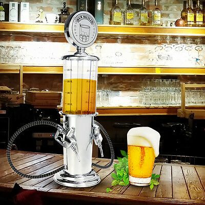 Wine Gas Station Cocktail Dispenser Drinks Bartending Beer Machine Double Pumps