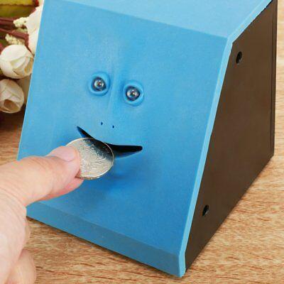 Face Coin Bank Sunsbell Money Eating Coin Bank Battery Powered Saving Monkey Box