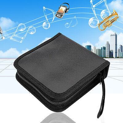 40 Disc CD/DVD DJ Video Storage Carry Case Organizer Bag Media Wallet Holder US