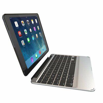 ZAGG Slim Book Case Backlit Wireless Bluetooth Keyboard for iPad Air 2 - Black
