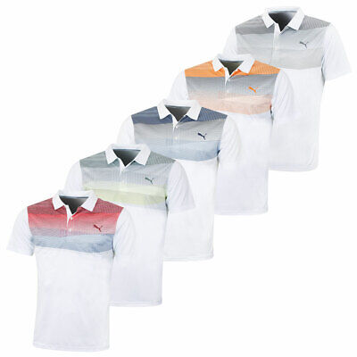 Puma Golf Mens Pwrcool Refraction DryCELL Performance Polo Shirt 47% OFF RRP