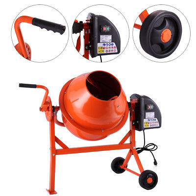 Portable 2-15cuft Electric Concrete Cement Mixer Barrow Machine Mixing Mortar